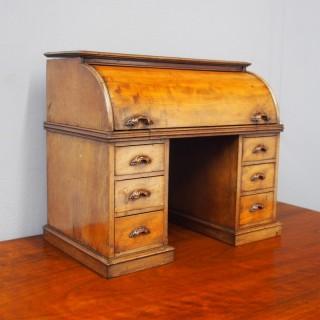 Miniature Mahogany Cylinder Desk