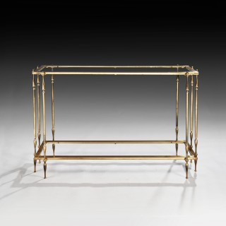 Mid 20th Century Spanish Brass Console Table