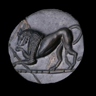 Hellenistic Bronze Ring with Bull Intaglio