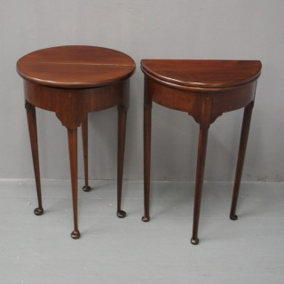 Pair of George I Style Mahogany Side Tables