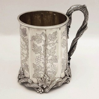 Antique Indian Silver Mug