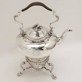 Antique George II Silver Kettle