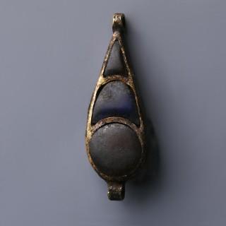 Egyptian Gold with Carnelian and Lapis Lazuli Amulet