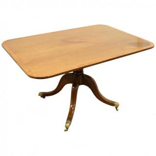 George III Mahogany Snap Top Breakfast Table