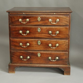 A rare George II mahogany chest of drawers of small proportions & superb patina