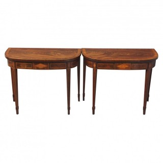 Pair of Card Tables in the Manner of Bruce and Burns