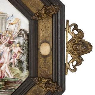 Pair of Italian Capodimonte painted porcelain plaques