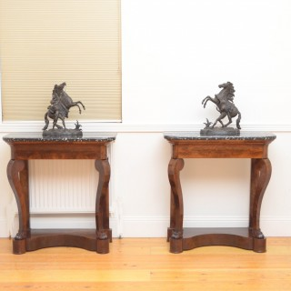 Pair of William IV Mahogany Console Tables