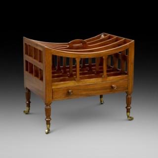 A Fine Regency mahogany Canterbury