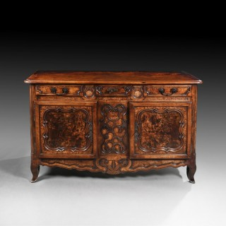 18th Century Louis XV French Burr Ash Bressan Buffet of Excellent Colour