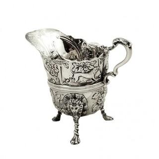 Antique Victorian Sterling Silver Jug / Creamer 1892