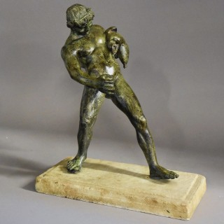 Late 19th/early 20th century Grand Tour style bronze of Bacchus
