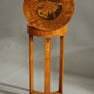 Late 19th century Continental decorative satinwood & marquetry work table
