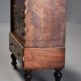 Late 17th century Continental walnut & tortoiseshell collectors chest of drawers
