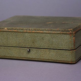 Superb quality five piece gilt metal writing set in the Empire style in original case
