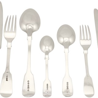 Sterling Silver Canteen of Cutlery for Twelve Persons - Antique