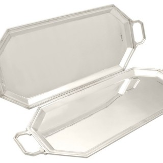 Sterling Silver Trays - Art Deco - Vintage George VI (1948)