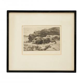 Lion & Lioness, Herbert Dicksee, Marauders