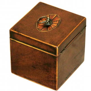 18th Century Georgian Mahogany English Square Tea Caddy