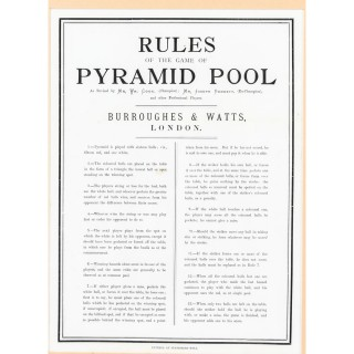Antique Victorian Pool Scoreboard & 2 Prints Palmer & Sons-Joe Davis 19th C