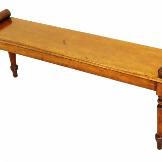 19th Century Victorian Mahogany Window Seat Hall Bench