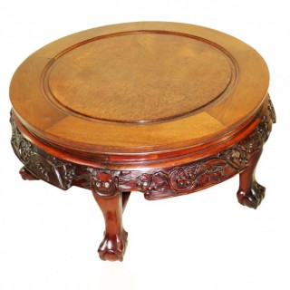 19th Century Oriental Hardwood Circular Coffee Table