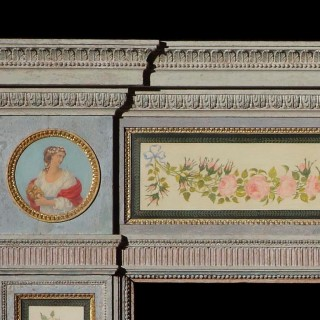 A Rare & Highly Decorative Fireplace in the Manner of George Brookshaw