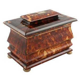 Georgian Tortoise Shell Tea Caddy