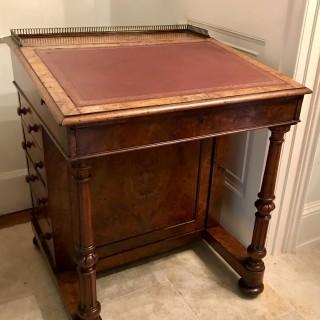 Nineteenth Century Walnut Davenport