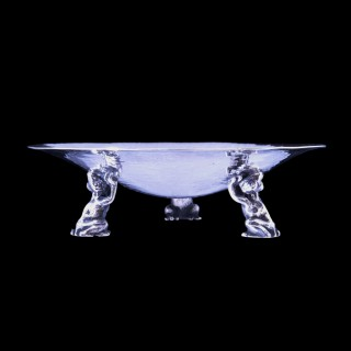 A Guild of Handicraft silver frog dish