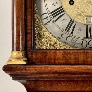 Rare Walnut longcase clock by Lewis of Wincanton