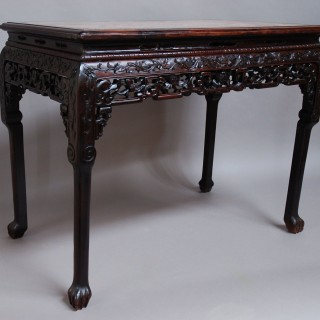 Superb quality 19th century Qing Dynasty Chinese hardwood centre table