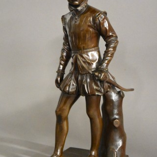 Fine quality 19thc French bronze figure of Henry IVth of France, after Francois J Bosio, stamped Barbedienne