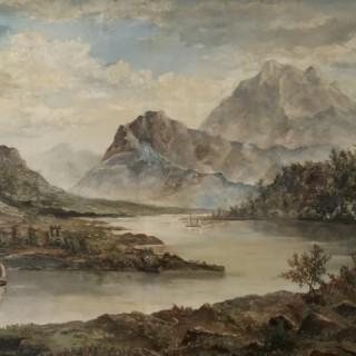 Victorian River Scene