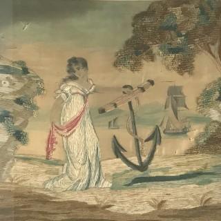 C18th Lady Emma Hamilton Silk