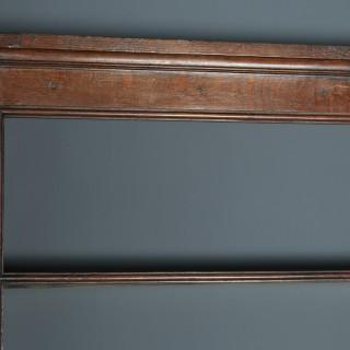 Antique English Georgian Oak Dresser Base Sideboard & Rack (Circa 1780)