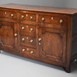 Late 18th/early 19th century oak dresser base of superb patina