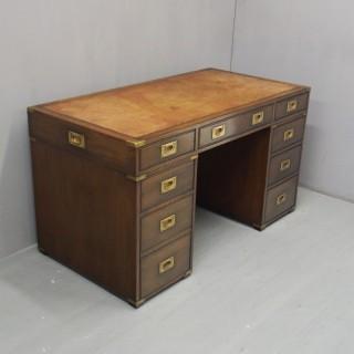 Edwardian Mahogany Campaign Style Desk