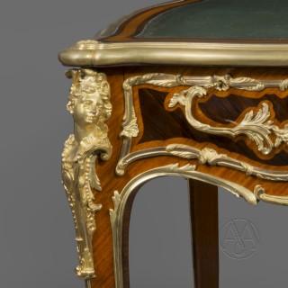A Regence Style Gilt-Bronze Mounted Bureau Plat By Zwiener