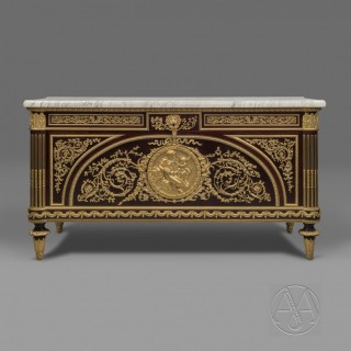 A Fine Louis XVI Style Commode À Vantaux After a Model By Guillaume Benneman and Joseph Stöckel with Bronze Mounts by Léon Kahn