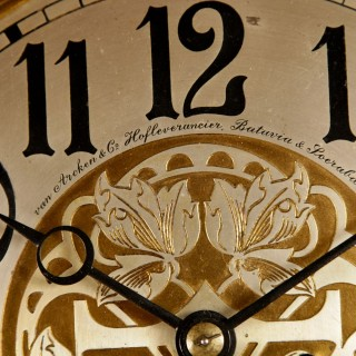 A Very Nice and Decorative Royal Suppliers Dutch / Indonesian Longcase Clock From circa: 1900