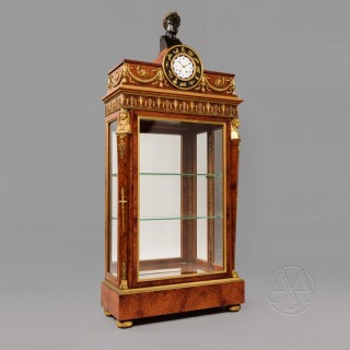 An Amboyna Wood Empire Style Vitrine Cabinet