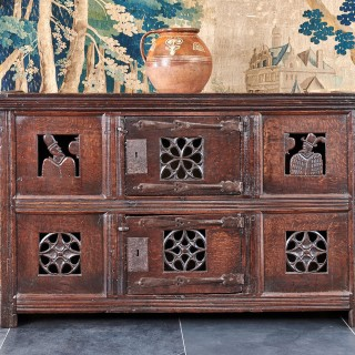 Henry VIII oak food cupboard