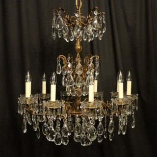 Italian Gilt Bronze 10 Light Antique Chandelier