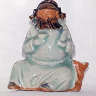 Yongzheng Biscuit Porcelain Jos stick Holder
