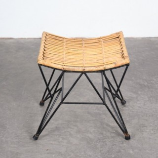 1960s rattan stool