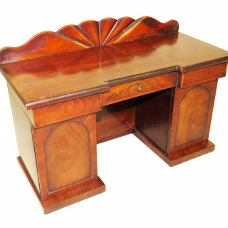 Charming Regency Mahogany Tea Caddy Miniature Sideboard