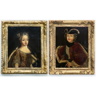 PAIR OF EARLY 18TH CENTURY ROYAL PORTRAITS