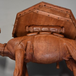 Late 19thc Anglo Indian hardwood camel table of superb quality and good patina