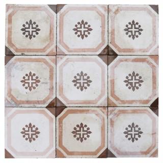 Reclaimed Patterned Encaustic Cement Floor Tiles 6.5 m2 (70 sq ft)